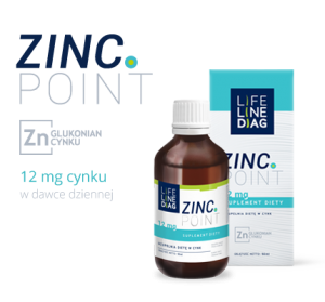 Cynk ZINC POINT krople 40 g Life Line Diag